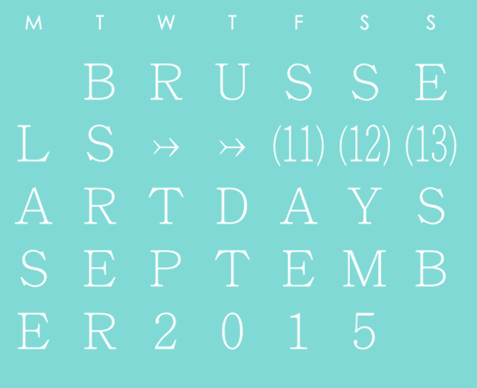2015 Brussels Art Days